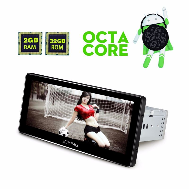 8.8 Inch Single Din Android auto Head Unit Oreo HD Touch screen car stereo