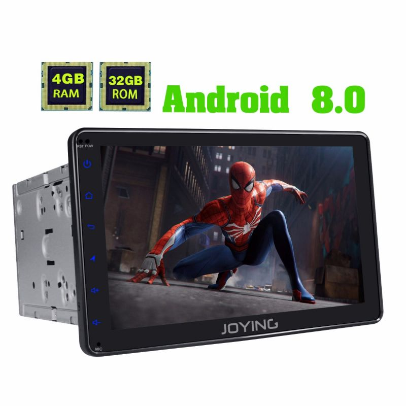 Joying 8 inch Double din Stereo touch screen 4GB Android 8.0 Octa Core HD Autoradio Bluetooth