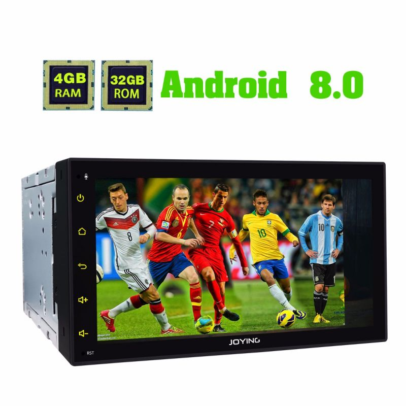 Joying 6.95 inch Double din Car Radio Android 8.0 4GB Head Unit audio system