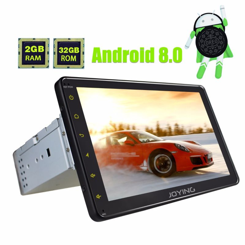 Joying 8 Single Din Car Stereo Octa Core Android 8.0 Oreo head unit GPS Navigation system bluetooth