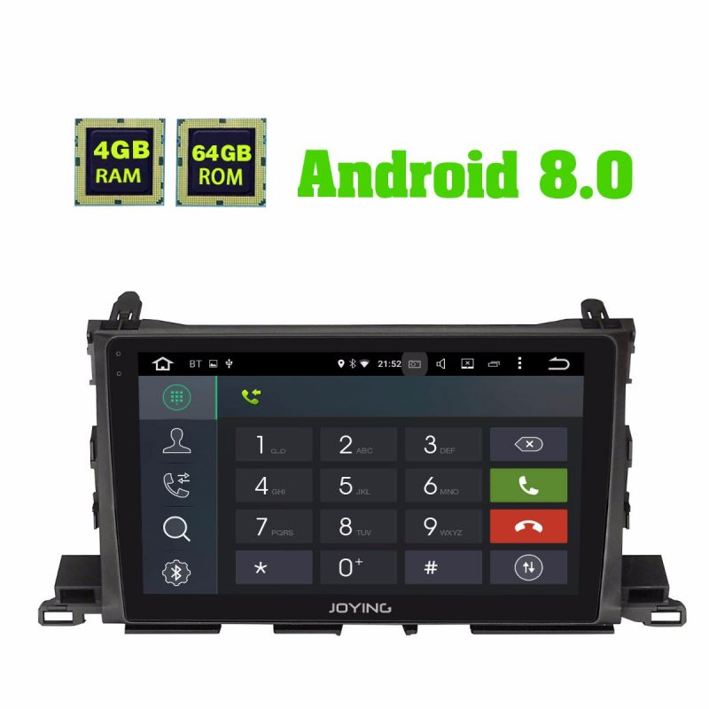 Toyota Highlander Car Radio Replacement Android 8.0 Oreo system 10.1 inch IPS Screen 4GB/64GB