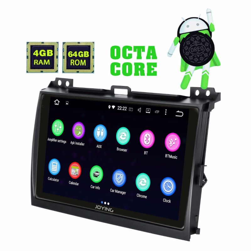 Android 8.1 Oreo System Head Unit Car Radio for Toyota Land Cruiser Prado with touch screen