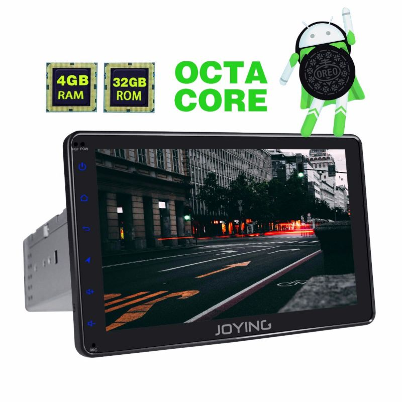 Joying 4GB Single Din Car Radio Upgraded Android 8.0 Octa Core HD Touch Screen GPS Navigation system