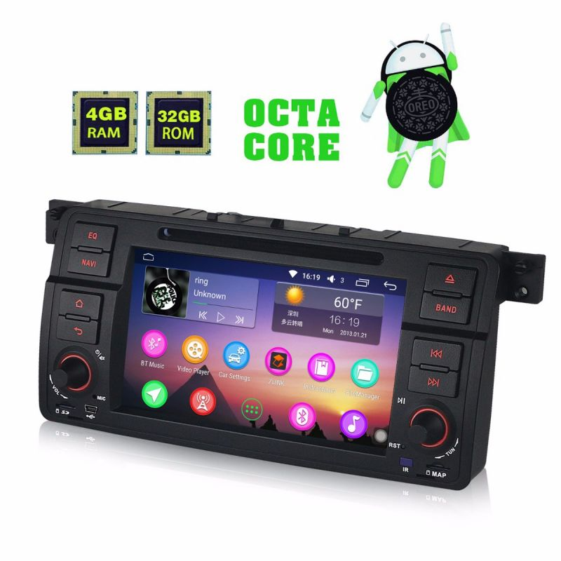 BMW E46 Car Stereo Replacement Android 8.0 Oreo 4GB Octa Core GPS Navigation System