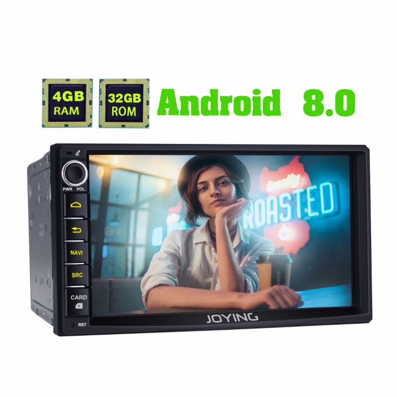 Joying android auto doppel din 7 inch car stereo android 8.0 RAM4GB car music system