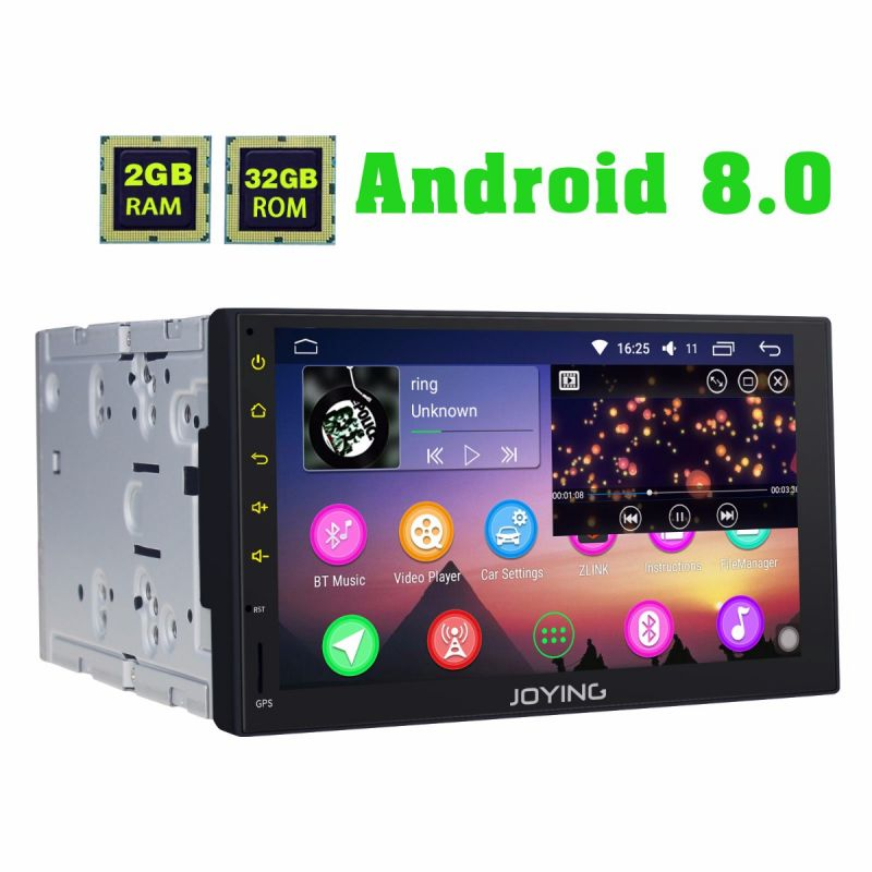 Joying 7 Inch 2DIN GPS Navigation System Android 8.0 HD Octa Core Car Radio Head Unit