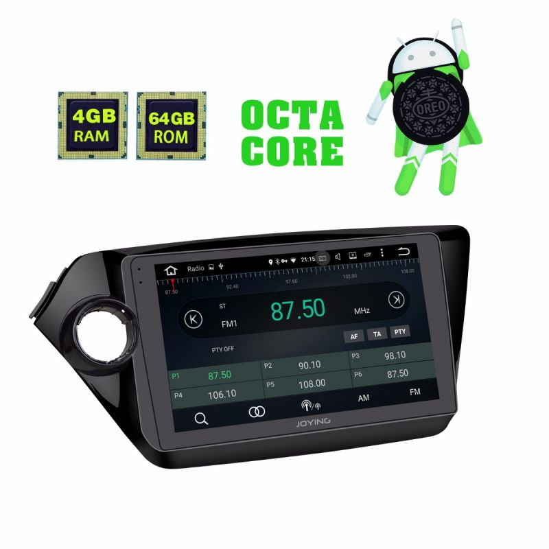 Latest Kia K2 RIO Android 8.0 Oreo Head Unit 4GB/64GB GPS Navigation System for 2010 - 2015