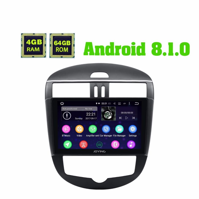 2011-2015 Nissan Tiida Car Radio 10.1 Inch IPS Screen Android 8.1.0 GPS Navigation system