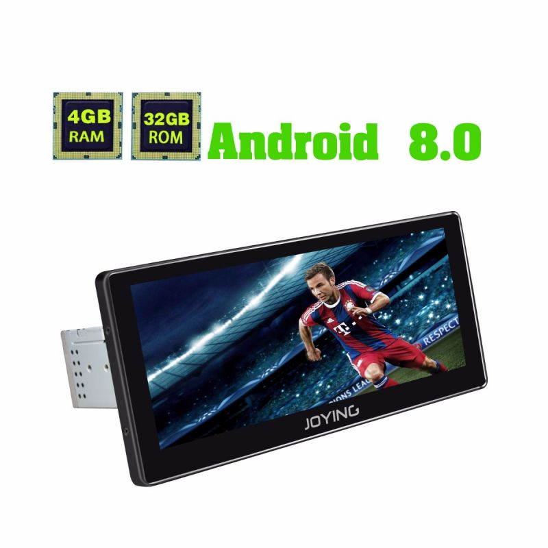 New 10.25 Inch Touch Screen Single Din GPS Navigation System Android 8.0 Oreo 4GB/32GB
