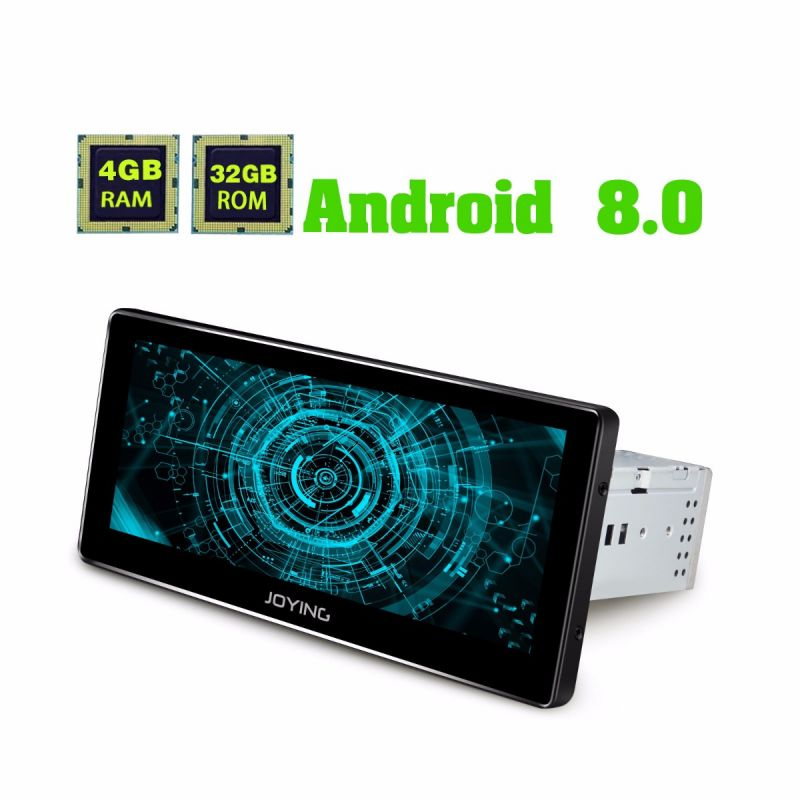 Best 8.8 Inch single din Car Radio Android 8.0 Oreo 4GBram audio system