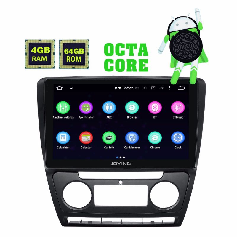 10.1 Inch IPS Screen Skoda Octavia Car Radio HD Android  8.1.0 GPS Navigation System