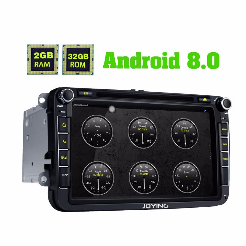 Joying VW 8 Head Unit Octa Core Android 8.0 Oreo Car DVD Player for golf/passat/jetta