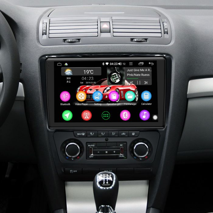 10 1 Inch IPS Screen Skoda Octavia Car Radio HD 4G Android 8 1 0 GPS  Navigation System