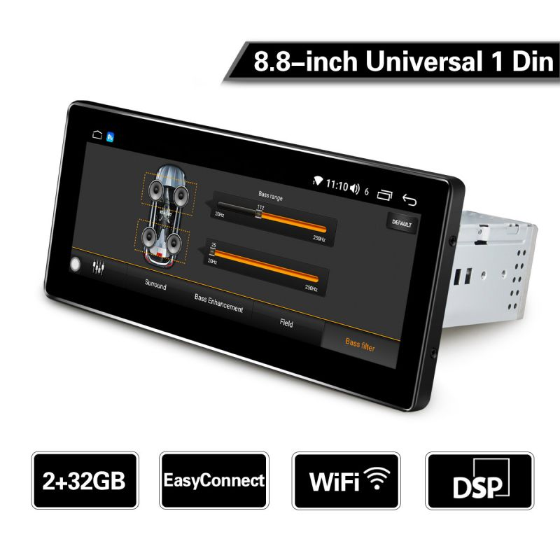 android 8.1 single din autoradio touch screen
