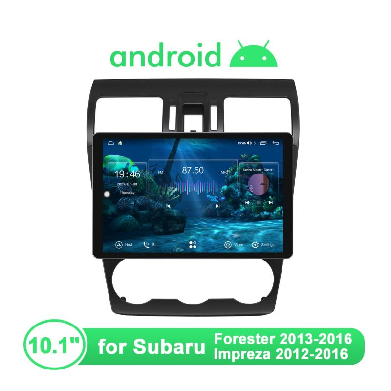 2013-2016 Subaru Forester & 2012-2016 Impreza Android Head Unit 10.1 Inch IPS Screen