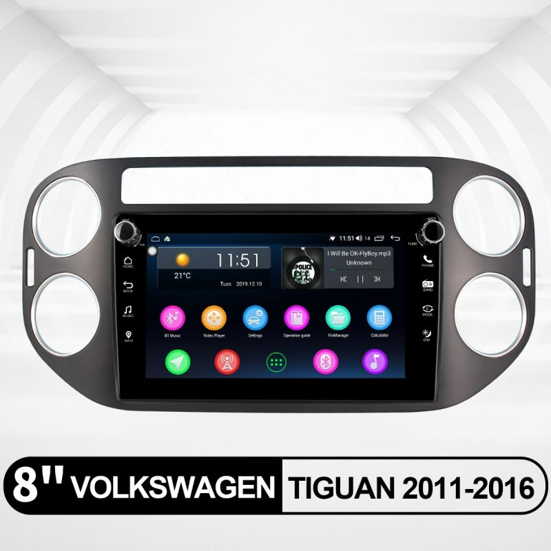 aftermarket vw tiguan radio