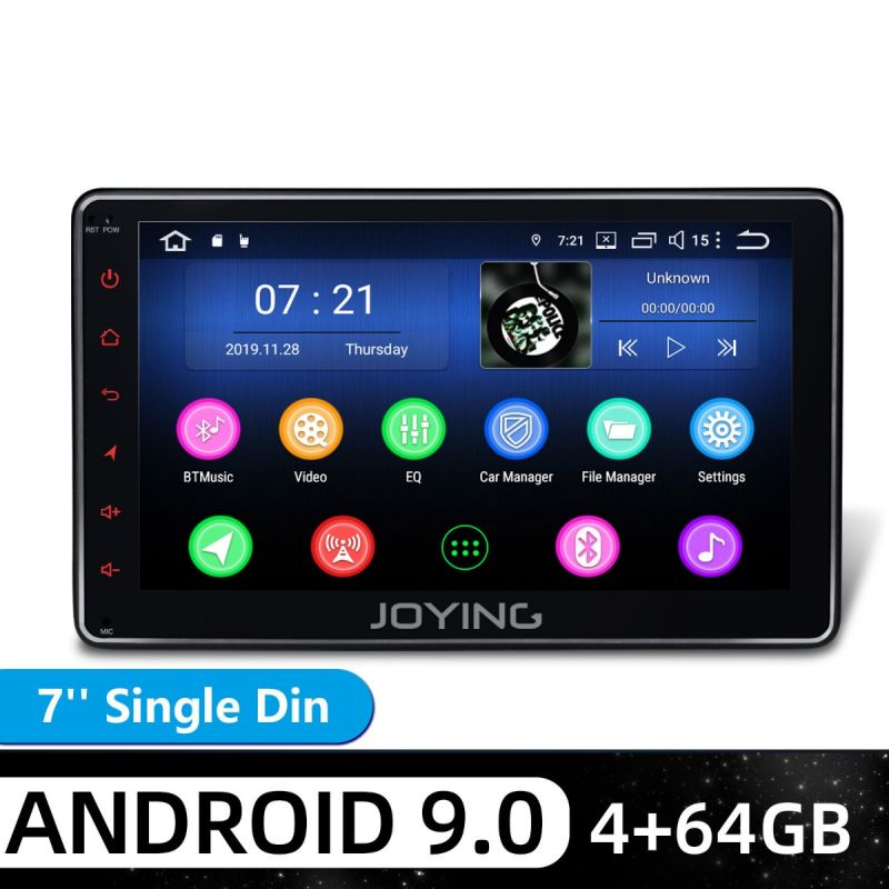1 din touch screen android 9 head unit