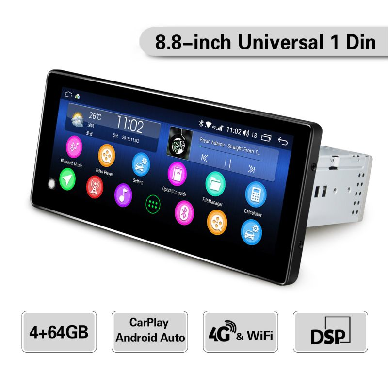 4G Lte car stereo single din radio