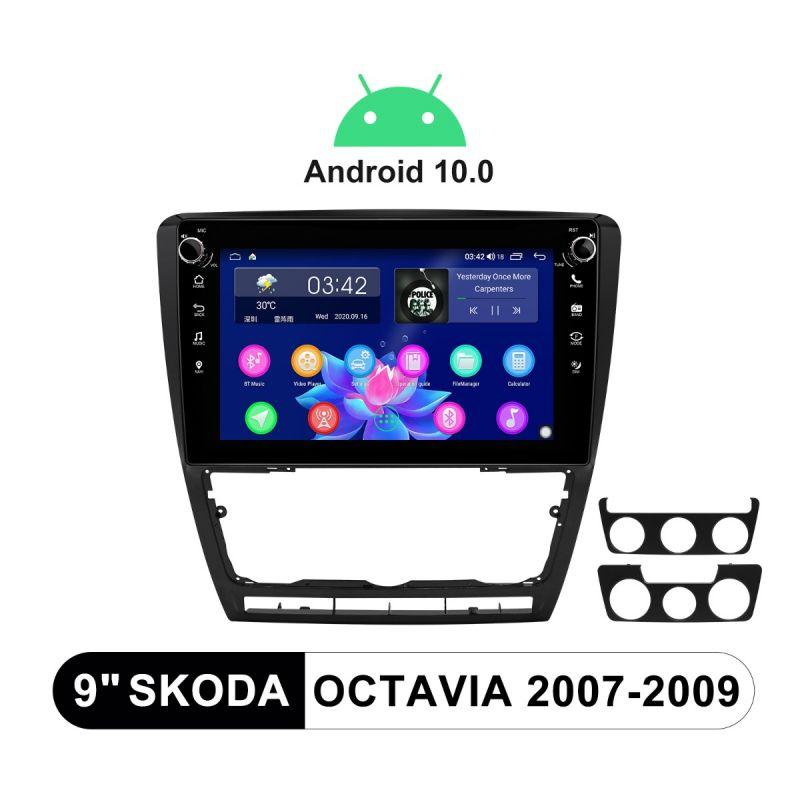 9 Inch Plug-And-Play Autoradio 2007-2009 SKODA OCTAVIA Car Stereo Support OME SWC