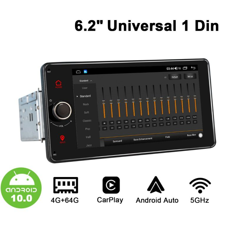 android octa core single din car media player