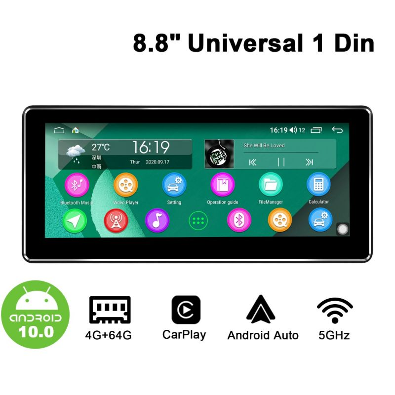 Joying widescreen single din radio
