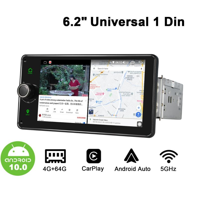 android 10 single din head unit