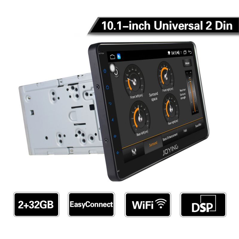 EU warehouse Joying 2GB Double Din Autoradio Android 8.1 Radio 10.1 Inch Touch Screen