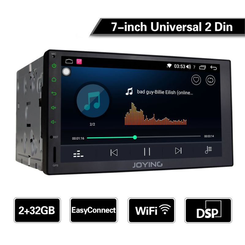 EU Warehouse Best Double 2Din Car Radio 7 Inch Android 8.1.0 HD 4GB Head Unit