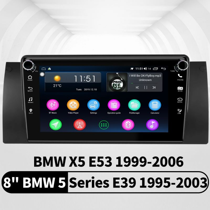 2020 New 8 Inch BMW E39 GPS Navigation Android 8.1.0 Octa Core 4G LTE Car Stereo