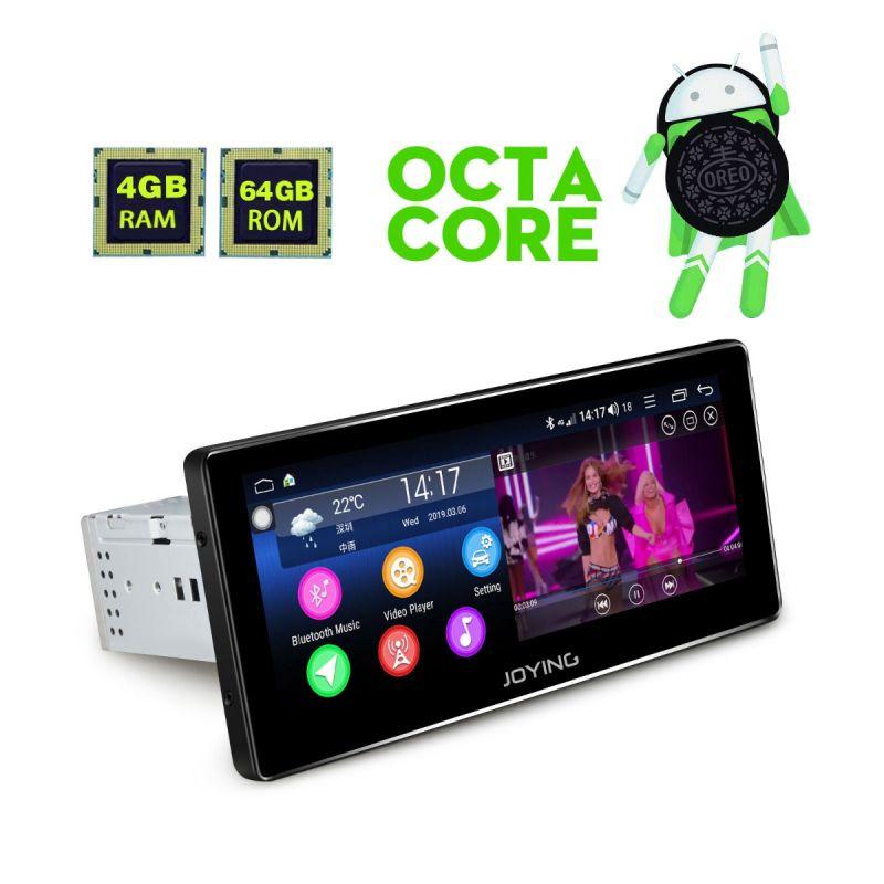 Joying 8.8 Inch Single Din Android 8.1 Car GPS Navigation Radio for Citroen C5/C4