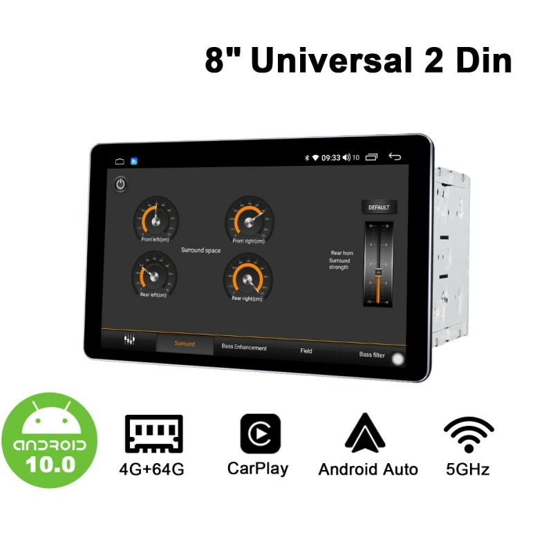 android 10 double din radio