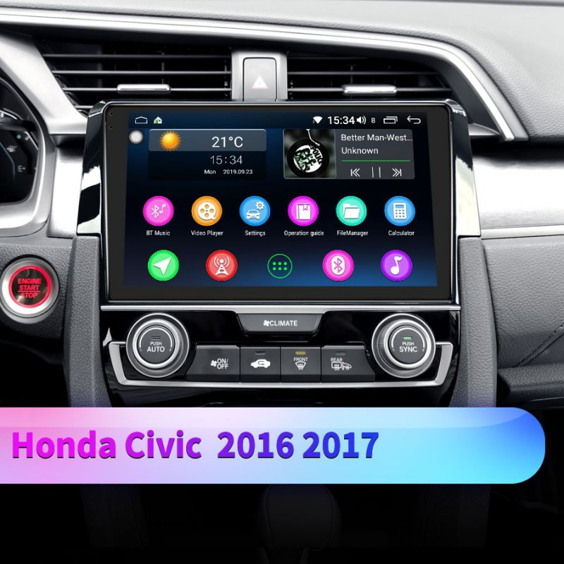 honda civic android radio