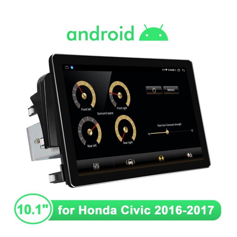 Joying 10.1 Inch Honda Civic 2016-2017 Plug-And-Play Head Unit 1920X1200 HD Screen