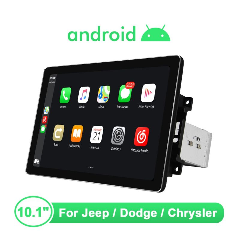 Joying 10.1 Inch Jeep Dodge Chrysler Head Unit 4GB+64GB 1920*1200 HD Screen