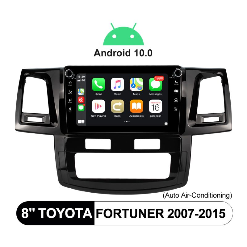 Joying 2007-2015 Toyota Fortuner 8 Inch Android 10 Head Unit With Physical Button