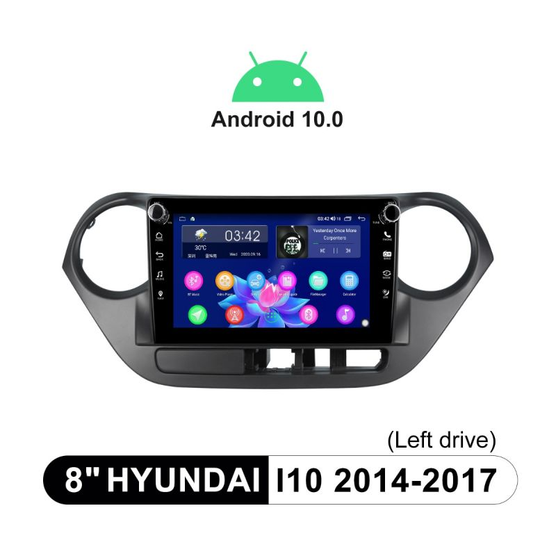 Joying 2014-2017 Hyundai i10 Android 10 Car Radio replacement With Physical Buttons