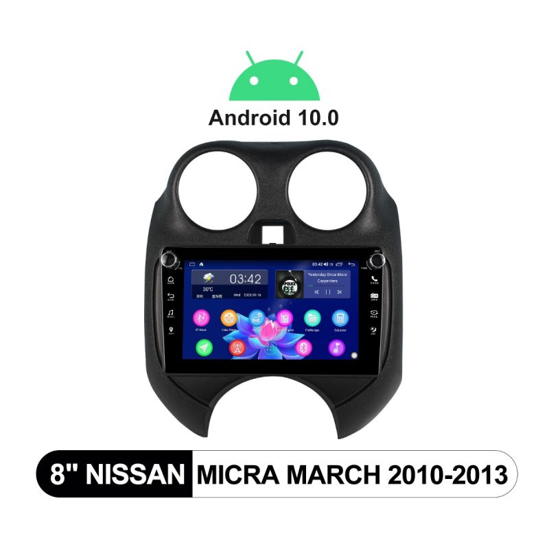 Joying 8 Inch 2010-2013 Nissan Micra March Android Head Unit With Physical Buttons