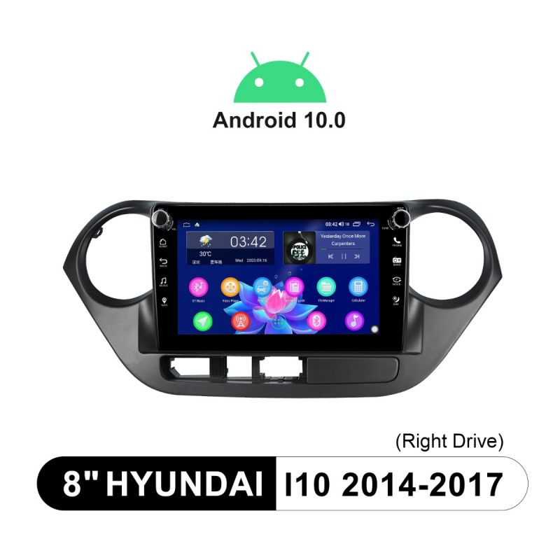 Joying 8 Inch Hyundai i10 2014-2017 Head Unit Support Factory Steering Wheel Control