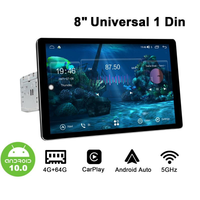 Joying 8 Inch New User Interface Single Din Car Stereo Optical & Coaxial Output