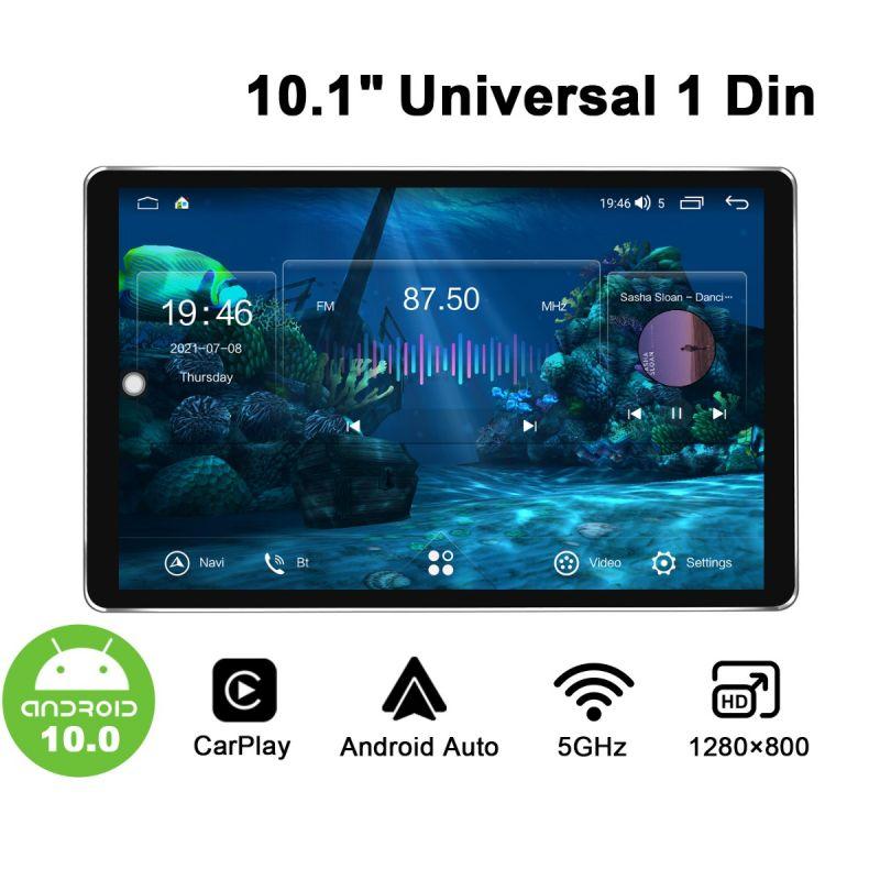 Joying Android 10.0 Autoradio 10.1 inch 1280*800 screen Single 1Din Car Stereo