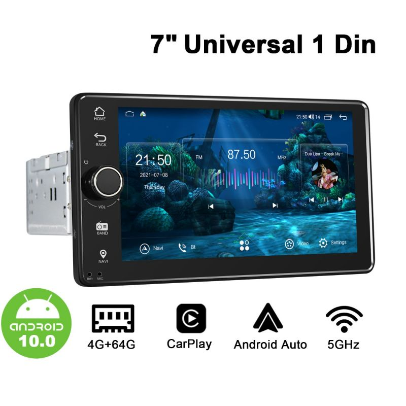 """Joying New User Interface For 7"""" Single Din Android 10.0 4+64GB Car Stereo"""