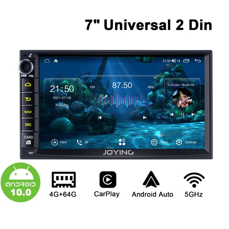 Joying Newest UI 7-Inch Universal Double Din Head Unit Support Android Auto Carplay