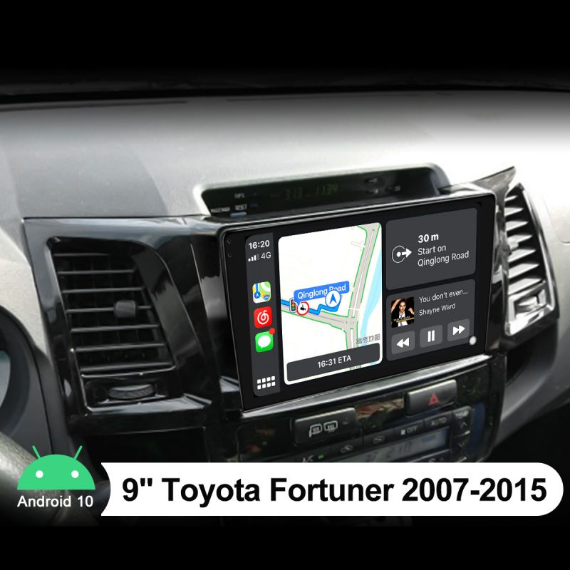 Joying Plug-And-Play Car Radio Replacement For Toyota Fortuner 2007-2015