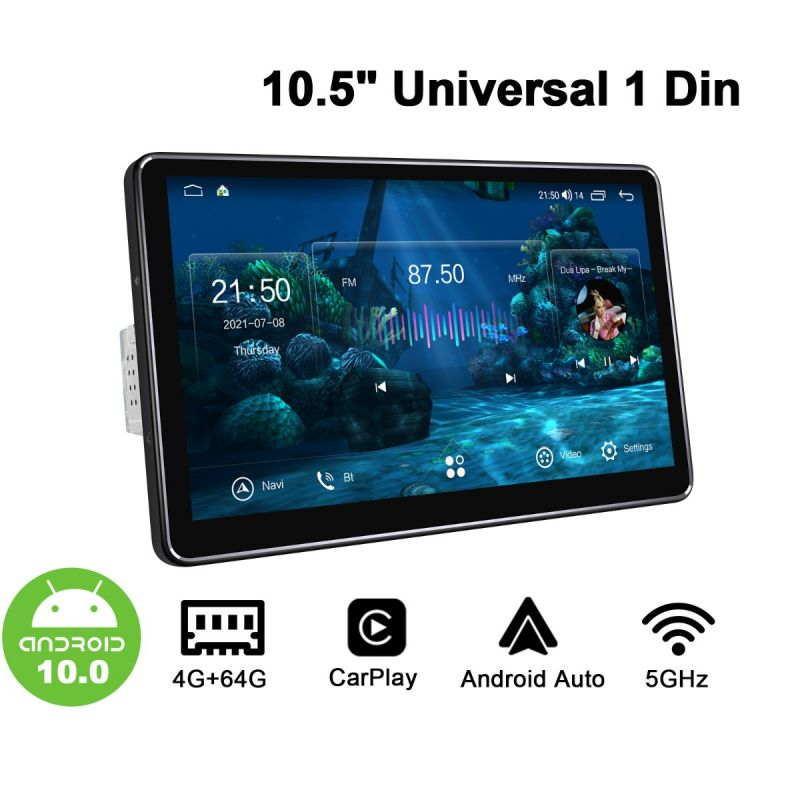 Joying Single Din New UI Universal Head Unit Android 10.0 1280x720 HD Screen