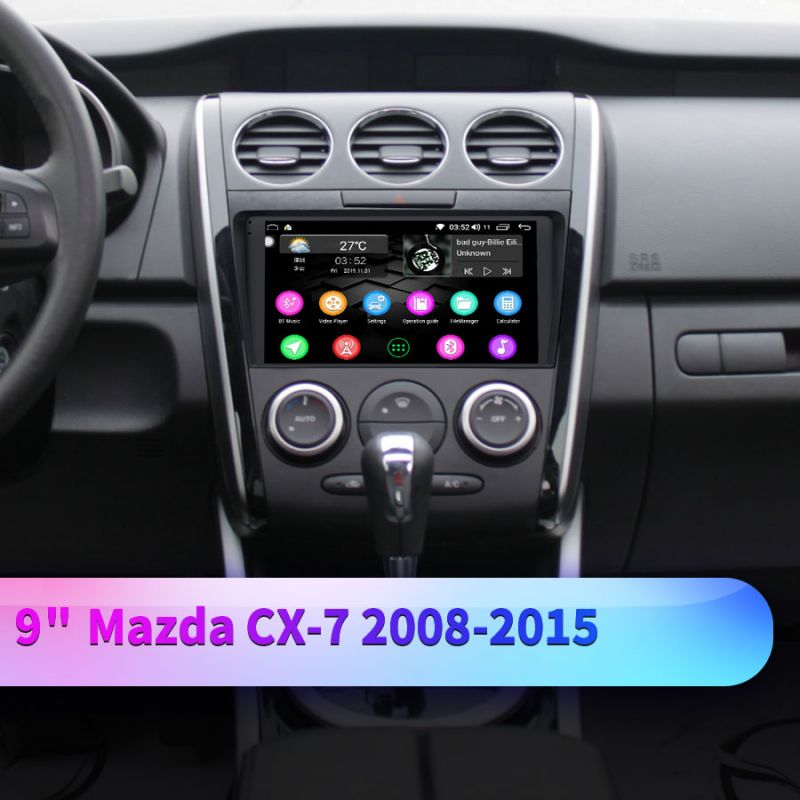 2008-2015 Mazda CX-7 Head Unit 9 Inch IPS Screen 4G LTE Android Car Audio system