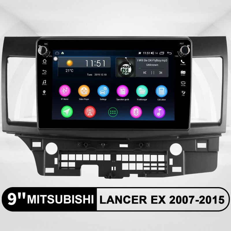 mitsubishi lancer android head unit
