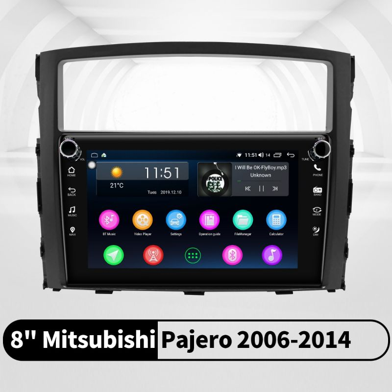 mitsubishi pajero android head unit