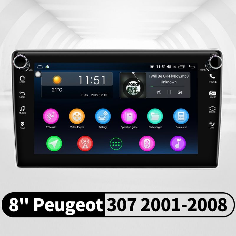 peugeot 307 android radio replacement