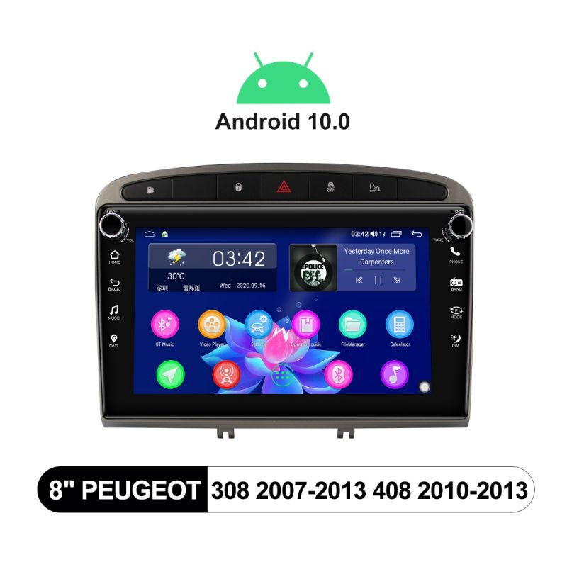 peugeot 308 android 10 head unit