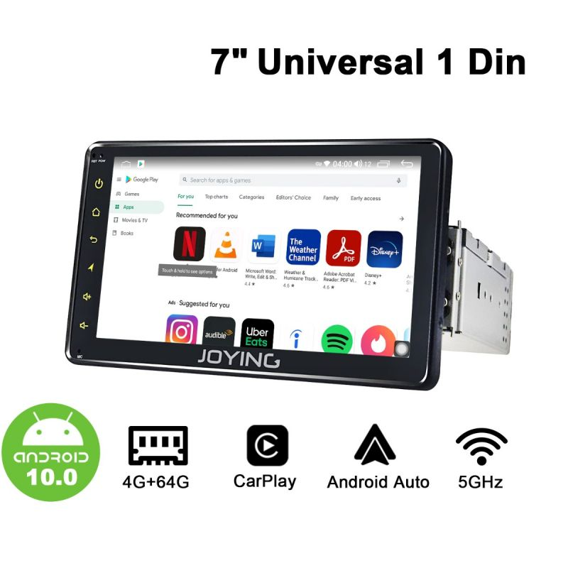 4GB/64GB Car Stereo 1 din GPS Navigation
